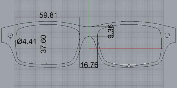 Hornbrille nach Mass